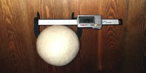 Decdeal Trocknerball Test Größe