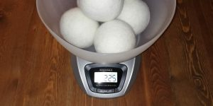 MountainGoods Trocknerbälle Test Gewicht